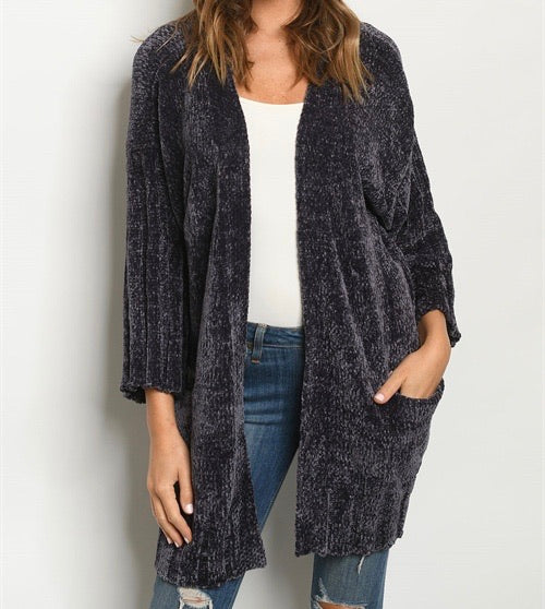 Charlie Chenille Cardigan
