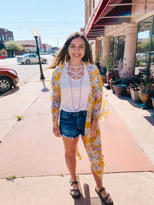 Sunny Spring Floral Duster