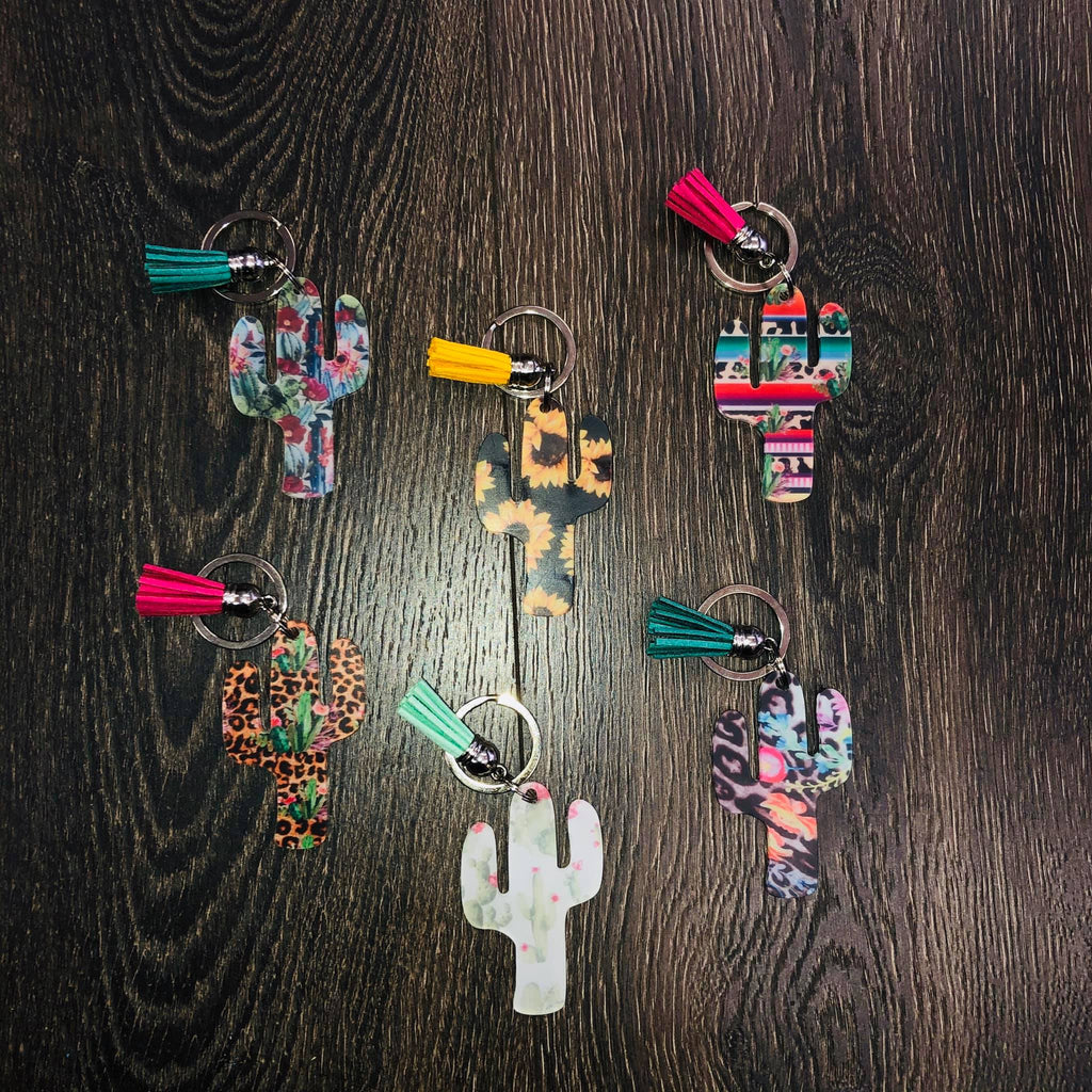 Cactus and Tassel Key Chains