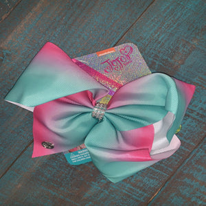 Mint and Fuchsia Bow