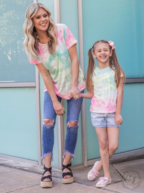 Seaside Bliss Tie Dye Top for Girls
