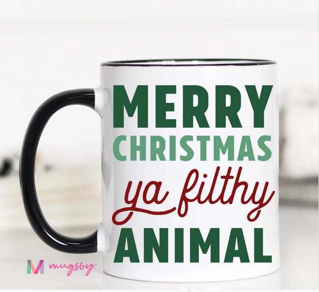 Merry Christmas Ya Filthy Animal 15 oz Mug