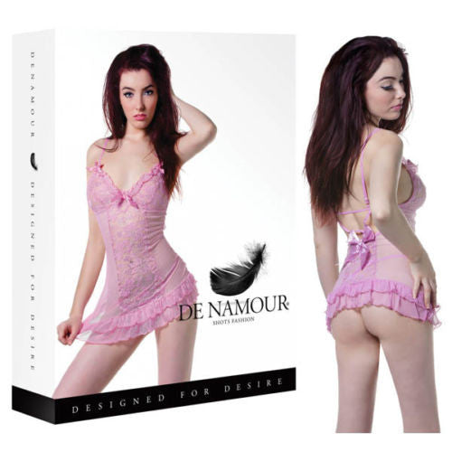 De Namour Sexy Babydoll & G-String - Saucy Ladies Intimates