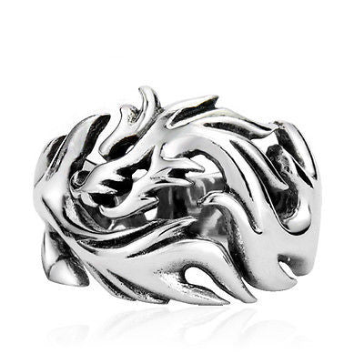 Funky Unisex Stainless Steel Dragon Ring - Saucy Ladies Intimates