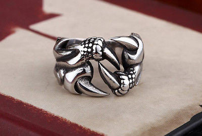 Gothic Dragon Claw Ring Stainless Steel Unisex - Saucy Ladies Intimates