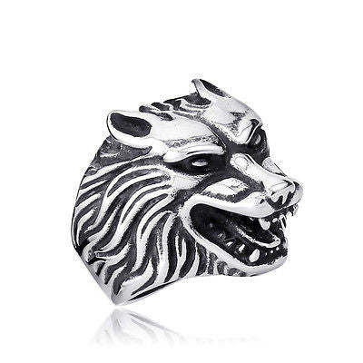 Funky Stainless Steel Wolf Ring