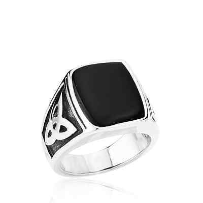 Funky Egyptian Style Stainless Steel Ring
