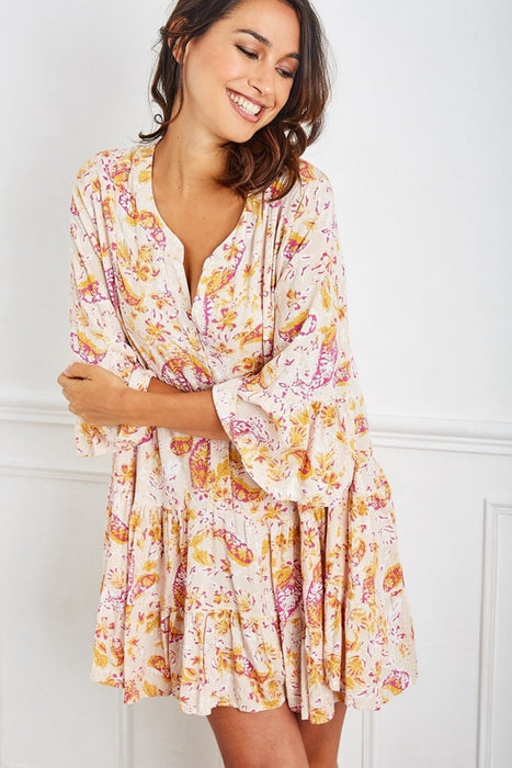 Lucy Paisley Lurex Babydoll Dress - Saucy Ladies Intimates
