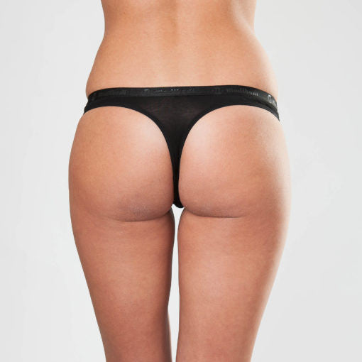 Classic Thong - Super Light Absorbency - Black - Saucy Ladies Intimates