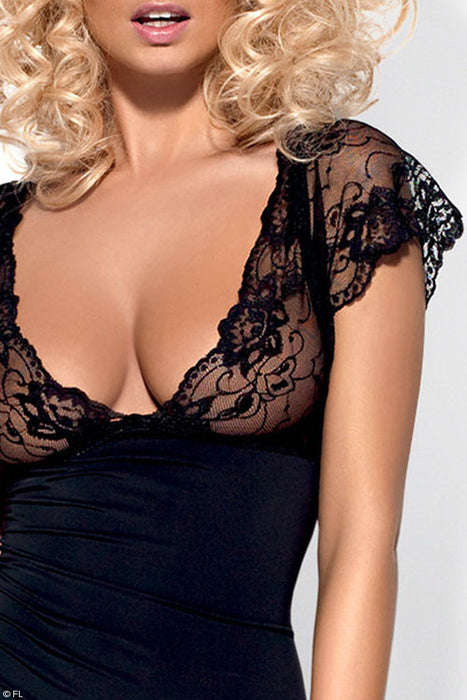 Obsessive Imperia Luxe Chemise with Thong - Saucy Ladies Intimates