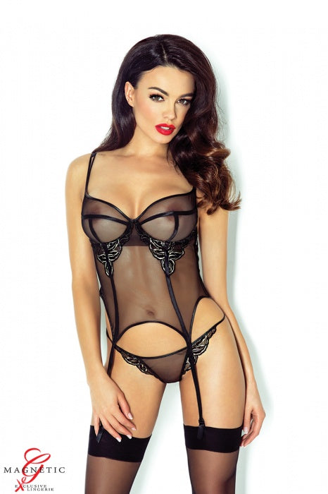 Demoniq Ginette Corset + Thong - Saucy Ladies Intimates