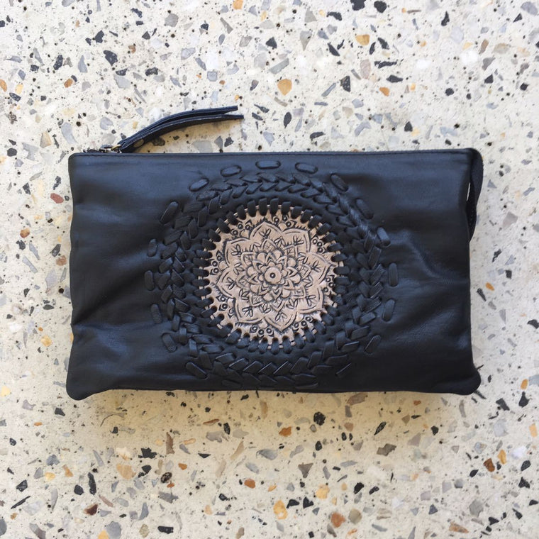 Hand Tooled Flower Purse & Bag