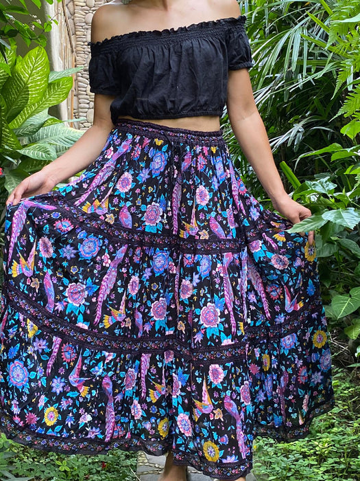 Lyrebird Bloom Maxi Skirt - Saucy Ladies Intimates