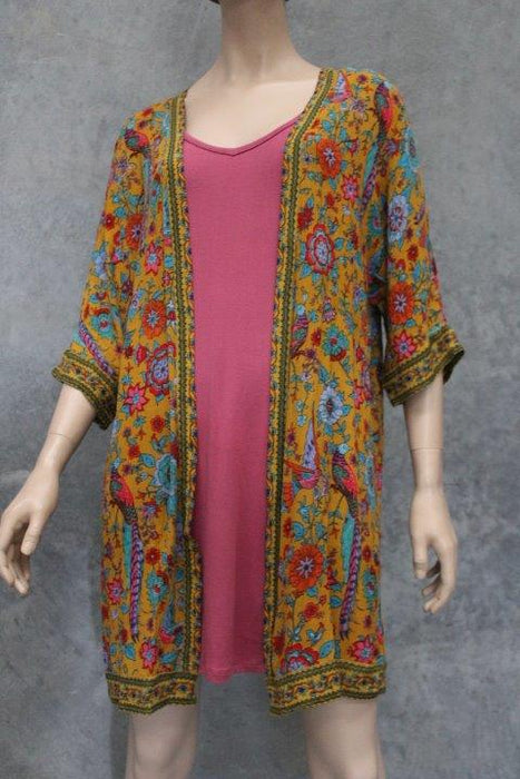 Lyrebird Bloom Short Kimono Jacket - Saucy Ladies Intimates
