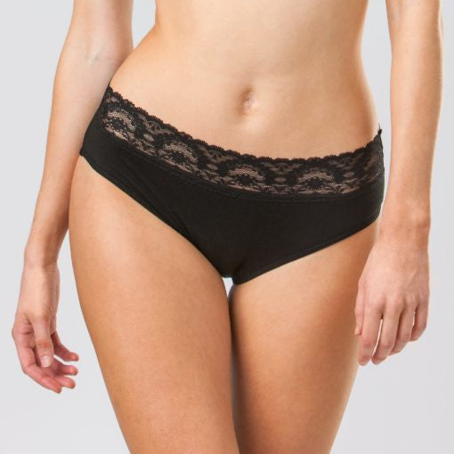 Sensual Hi-Waist Bikini - Light Absorbency - Black