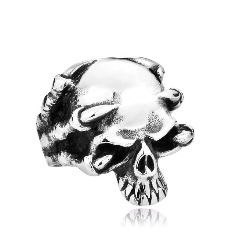 Funky Unique Stainless Steel Skull Ring Unisex