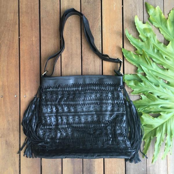 Weave & Stitch Tassel Bag