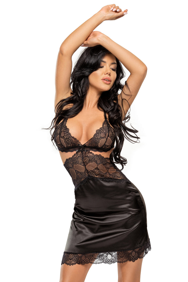 Beauty Night Adelaide Chemise -Black