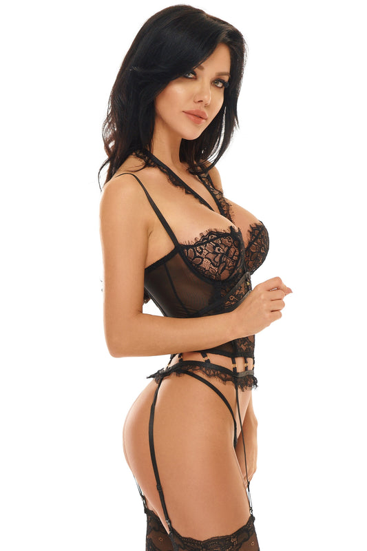 Beauty Night Maily's Corset - Black - Saucy Ladies Intimates