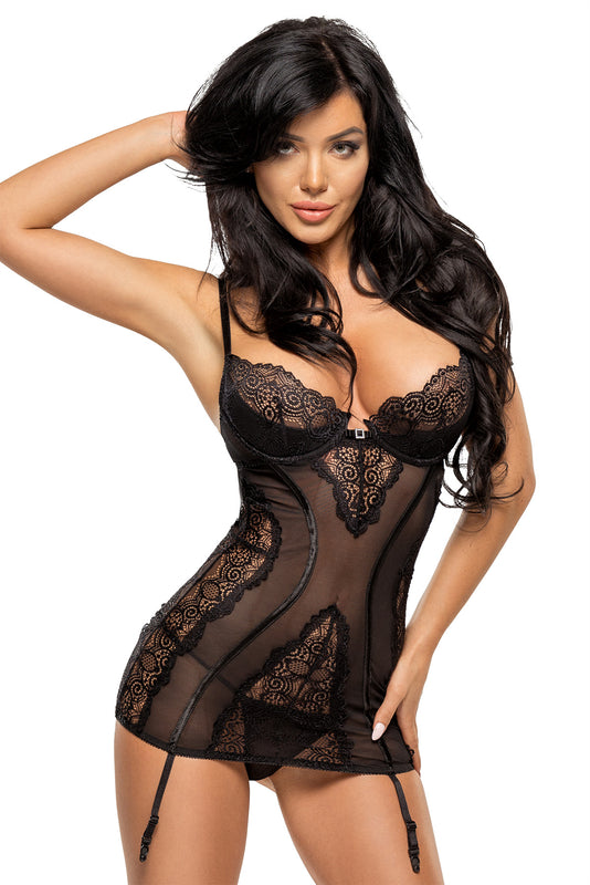 Beauty Night Ravenna Chemise - Black - Saucy Ladies Intimates