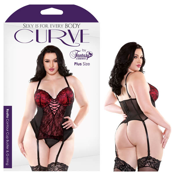 Curve Rosita Contour Cup Bustier & G-String - Saucy Ladies Intimates