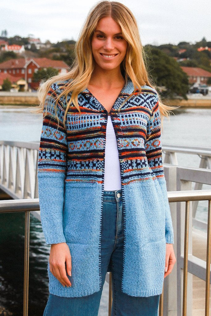Atlanta Hooded Boho Cardigan