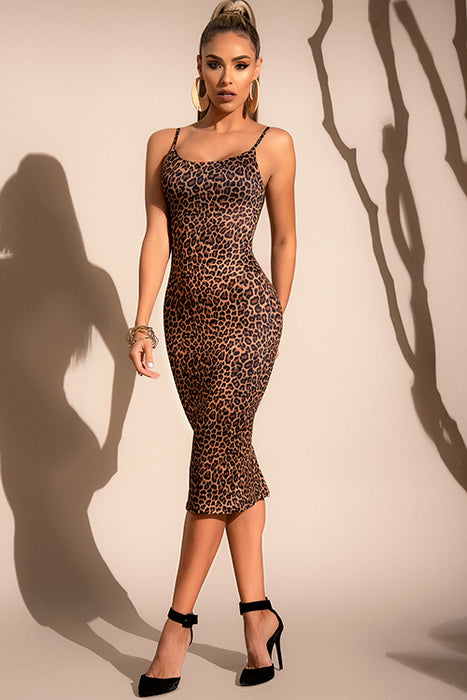 Mapale Natural Instinct Leopard Print Bodycon Dress - Saucy Ladies Intimates