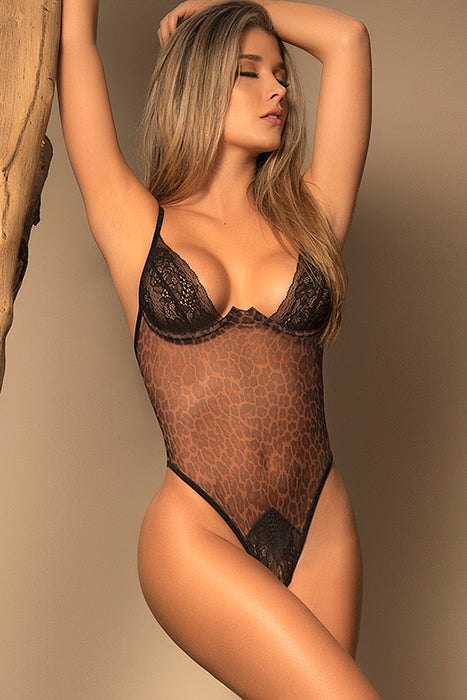 Mapale by Espiral Natural Instinct Cheeky Cut-Out Teddy - Saucy Ladies Intimates
