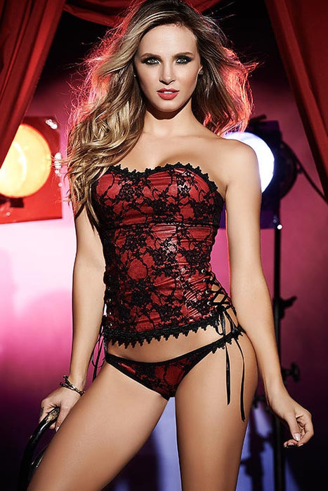 Mapale by Espiral Striking Soft Fit Corset with Panty - Saucy Ladies Intimates
