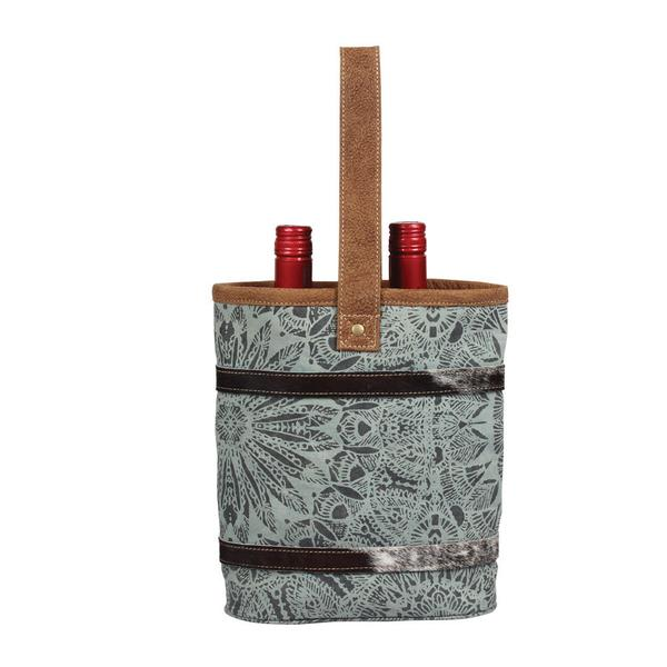 Floral Print Double Wine Bag