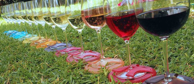 Glass On The Grass Outdoor Wine Coasters - Saucy Ladies Intimates