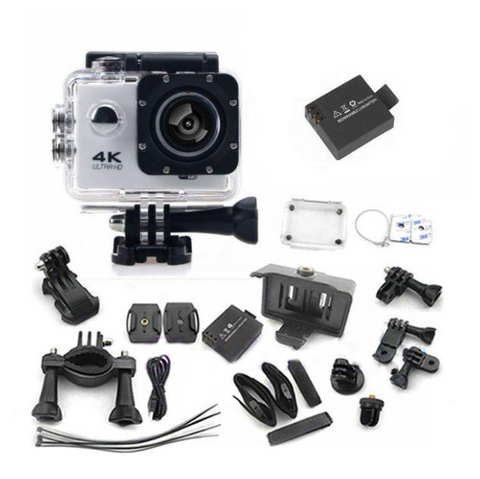 4K Ultra HD Waterproof Action Camera w/WIFI, and Accessories Package *SPECIAL*