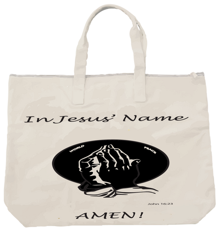 """IN JESUS' NAME"" TOTE - Spirituali-Tee Apparel Gifts & Accessories"