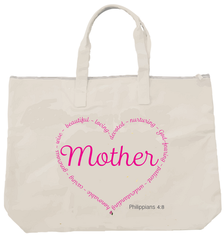 MOTHER-PHILLIPIANS 4:8 TOTE - Spirituali-Tee Apparel Gifts & Accessories