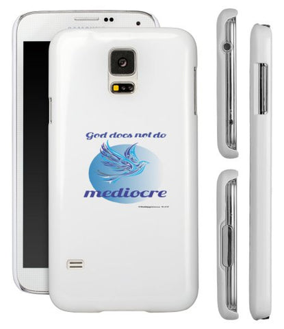 """GOD DOES NOT DO MEDIOCRE"" DOVE SAMSUNG S5 SHELL - Spirituali-Tee Apparel Gifts & Accessories"