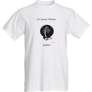 """IN JESUS' NAME"" MENS TEE - Spirituali-Tee Apparel Gifts & Accessories"
