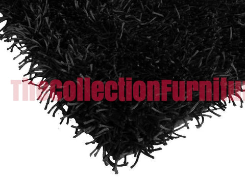 SHAGGY RUG BLACK