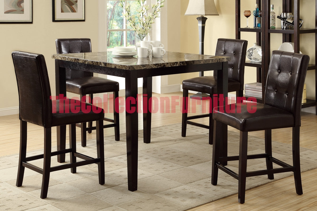 Lenox Dark 5 Piece Counter Height Dining Set