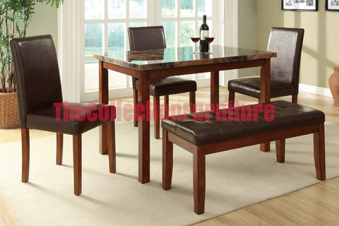 Emily Marble 5-Piece Dining Set