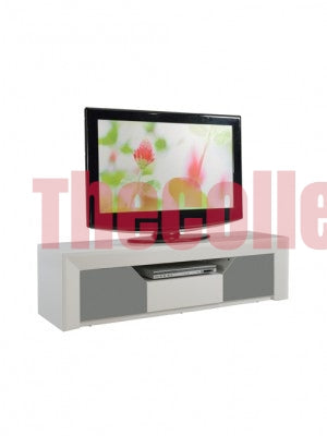 Jalen Grey and White TV Stand