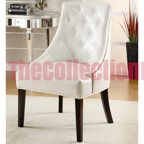 Amanda White Accent Chair
