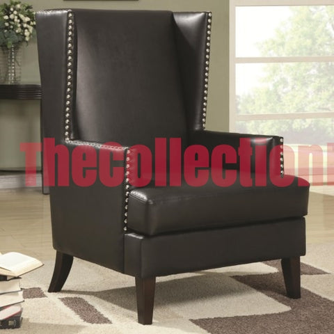 Evelin Black Accent Chair
