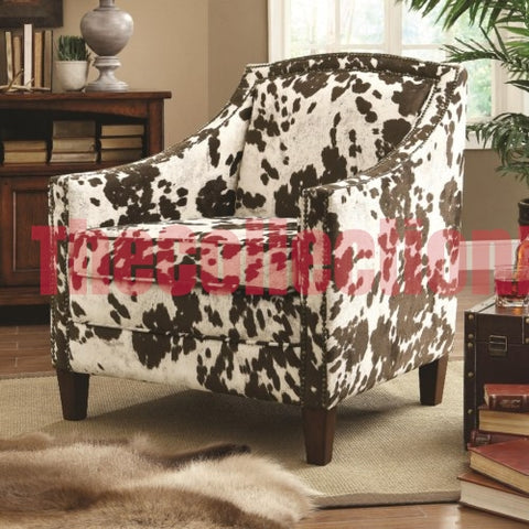 Alina Cow Hide Accent Chair