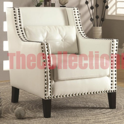 Dayna White Accent Chair