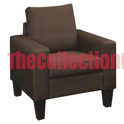 Bachman Upholstered Chocolate Chair
