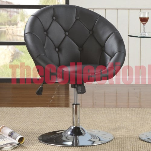 Alexa Black Accent Chair