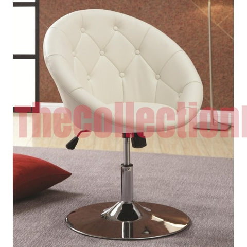 Alexa White Accent Chair