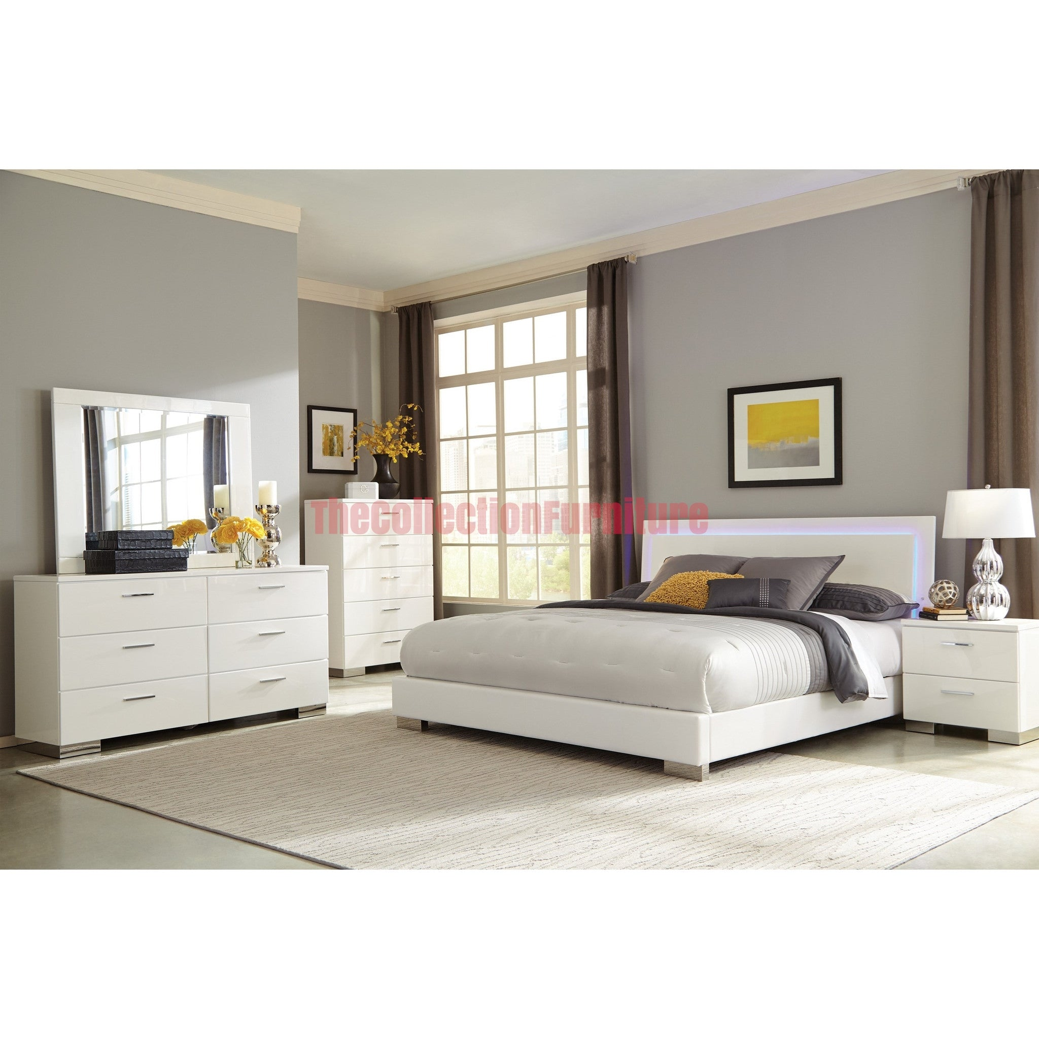 Felicity Iluminate 4 Piece Bedroom Set