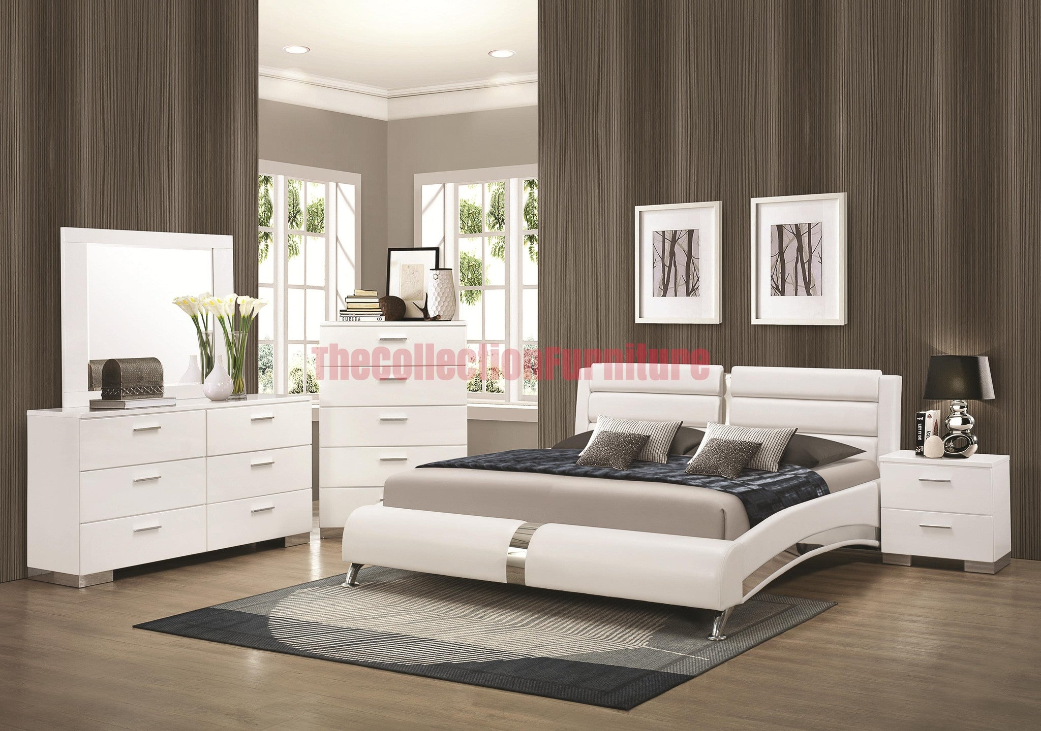 Jeslyn White 4 Piece Bedroom Set