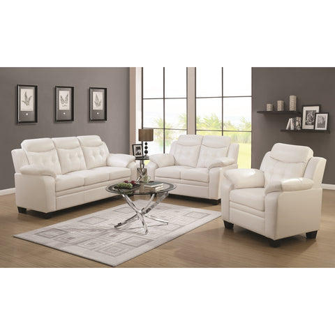 Finley Sofa with Extreme Padding White 2-pieces set